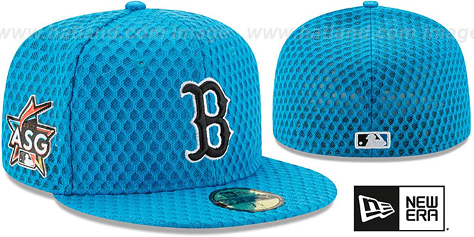 Red Sox '2017 MLB HOME RUN DERBY' Blue Fitted Hat by New Era : pictured without stickers that these products are shipped with