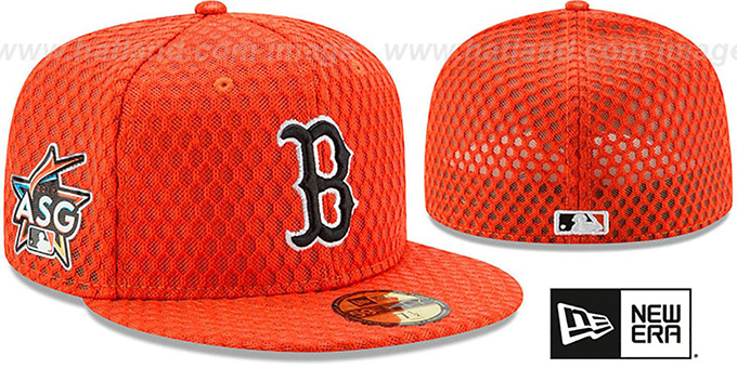 ed9797ef Red Sox '2017 MLB HOME RUN DERBY' Orange Fitted Hat by ...