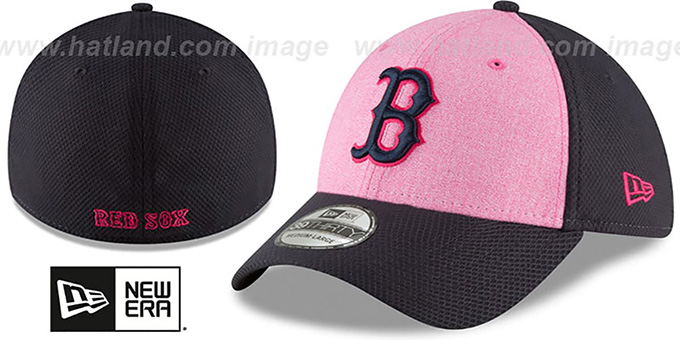 fff2ffa7efa898 Red Sox '2018 MOTHERS DAY FLEX' Pink-Navy Hat by New Era