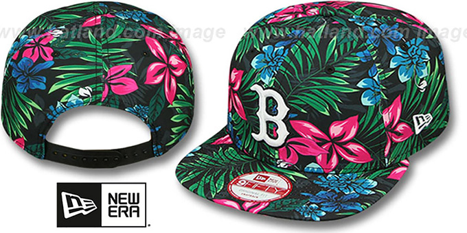 Red Sox 'AMAZON BLOOM SNAPBACK' Hat by New Era : pictured without stickers that these products are shipped with