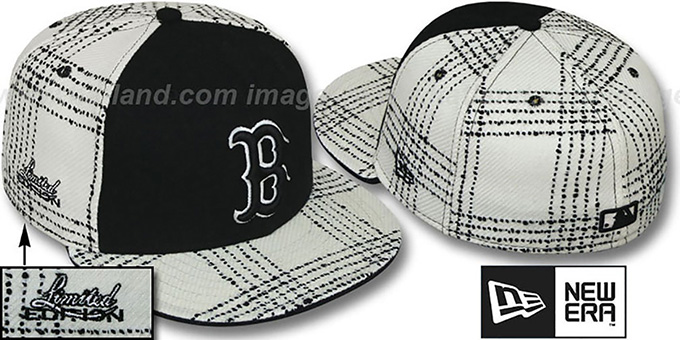 Red Sox 'ARMANI GOLD STAR' Fitted Hat by New Era : pictured without stickers that these products are shipped with