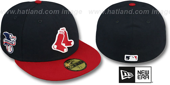Red Sox 'BAYCIK' ALT Navy-Red Fitted Hat by New Era : pictured without stickers that these products are shipped with