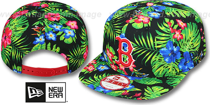 Red Sox 'BLOOM SNAPBACK' Hat by New Era : pictured without stickers that these products are shipped with