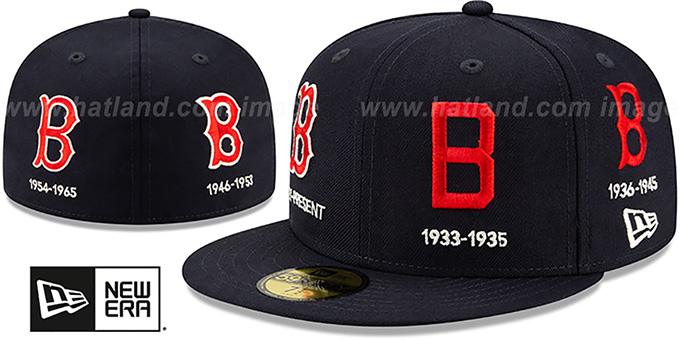 Red Sox 'COOPERSTOWN EVOLUTION-2' Navy Fitted Hat by New Era