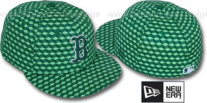 Red Sox 'CUE-BERT' Green Fitted Hat by New Era : pictured without stickers that these products are shipped with