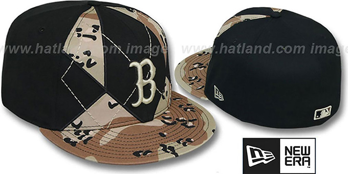 Red Sox 'DESERT STORM CAMO BRADY' Fitted Hat by New Era : pictured without stickers that these products are shipped with