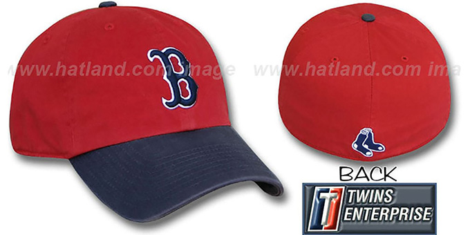 Red Sox 'FRANCHISE' Hat by Twins - red-navy : pictured without stickers that these products are shipped with