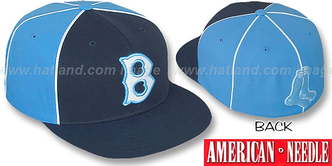 Red Sox 'FREEZEOUT' Fitted Hat by American Needle : pictured without stickers that these products are shipped with