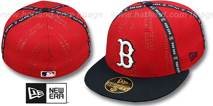Red Sox 'GELLIN' Red-Navy Fitted Hat by New Era : pictured without stickers that these products are shipped with
