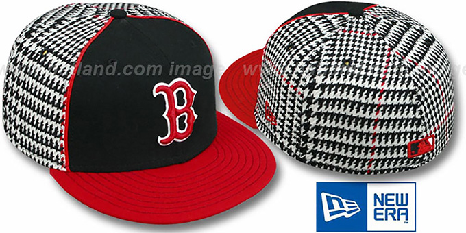 Red Sox 'HOUND DOG' Fitted Hat by New Era : pictured without stickers that these products are shipped with