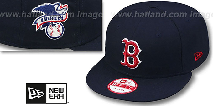 Red Sox 'LEAGUE REPLICA GAME SNAPBACK' Hat by New Era : pictured without stickers that these products are shipped with