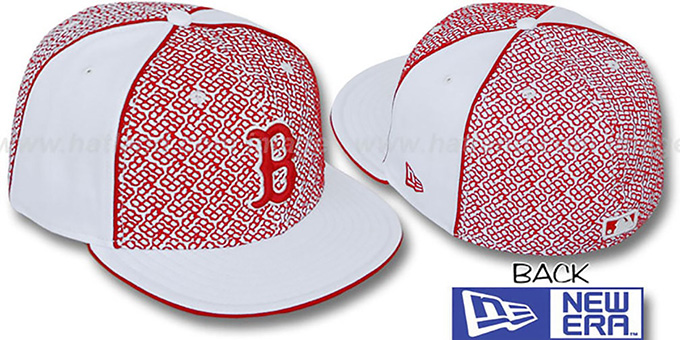 Red Sox 'LOS-LOGOS' White-Red Fitted Hat by New Era