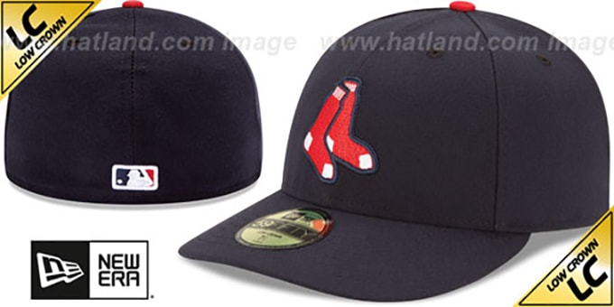 Red Sox 'LOW-CROWN' ALTERNATE Fitted Hat by New Era : pictured without stickers that these products are shipped with
