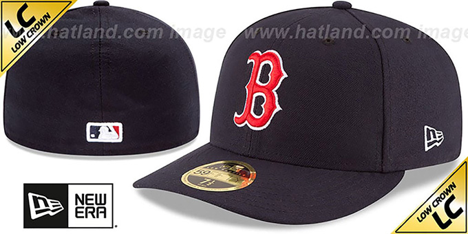 Red Sox '2017 LOW-CROWN ONFIELD GAME' Fitted Hat by New Era : pictured without stickers that these products are shipped with