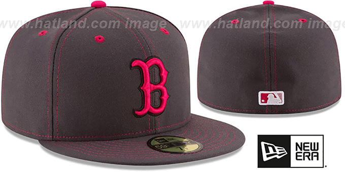 Red Sox 'MOTHERS DAY' Fitted Hat by New Era : pictured without stickers that these products are shipped with