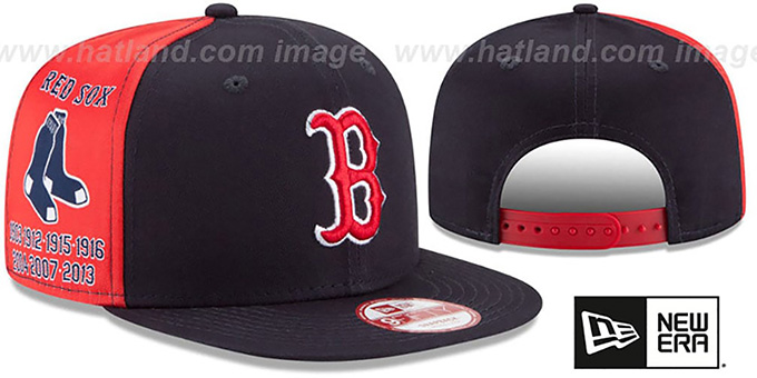 Red Sox 'PANEL PRIDE SNAPBACK' Hat by New Era : pictured without stickers that these products are shipped with