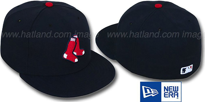 Red Sox 'PERFORMANCE ALTERNATE' Hat by New Era : pictured without stickers that these products are shipped with