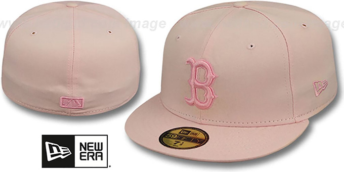 Red Sox 'PINKOUT' Fitted Hat by New Era : pictured without stickers that these products are shipped with