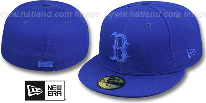 Red Sox 'ROYALOUT' Fitted Hat by New Era : pictured without stickers that these products are shipped with