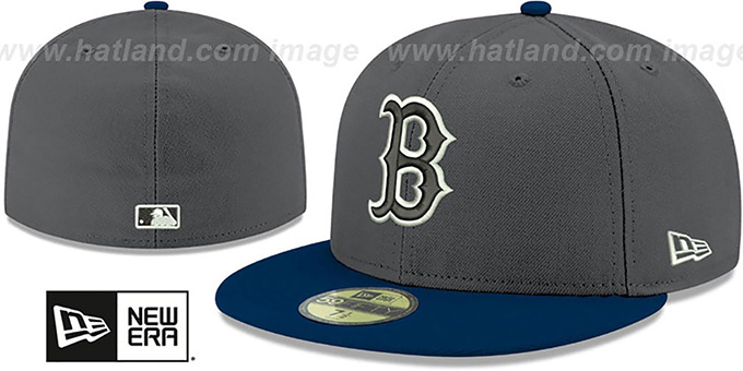 Red Sox 'SHADER MELT-2' Grey-Navy Fitted Hat by New Era : pictured without stickers that these products are shipped with