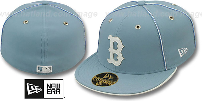 Red Sox 'SKY BLUE DaBu' Fitted Hat by New Era : pictured without stickers that these products are shipped with
