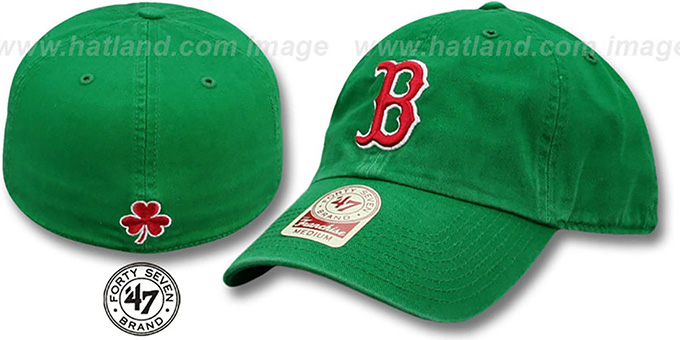 Red Sox 'ST PATS FRANCHISE' Green Hat by Twins 47 Brand : pictured without stickers that these products are shipped with