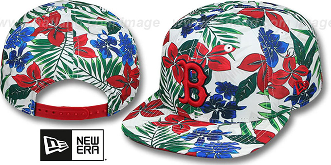 Red Sox 'TROPTRIP BLOOM SNAPBACK' Hat by New Era : pictured without stickers that these products are shipped with