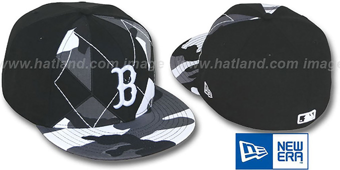 Red Sox 'URBAN CAMO BRADY' Fitted Hat by New Era : pictured without stickers that these products are shipped with