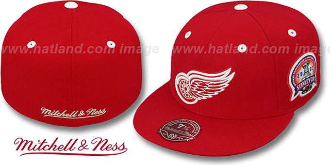Red Wings 2002 'COMMEMORATIVE CHAMPS' Hat by Mitchell & Ness : pictured without stickers that these products are shipped with