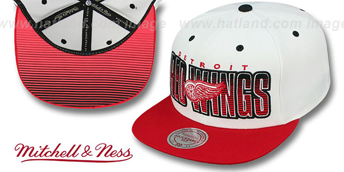 Detroit Red Wings HOMESTAND SNAPBACK White-Red Hat by Mitchell   a44b000c9