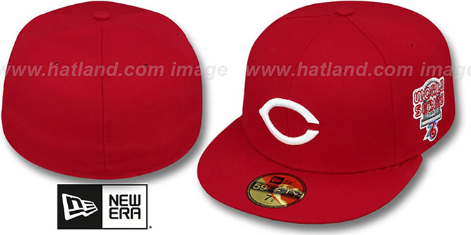 Reds 1976 'WORLD SERIES CHAMPS' GAME Hat by New Era : pictured without stickers that these products are shipped with