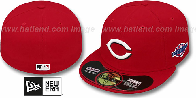 Reds 2012 'PLAYOFF HOME' Hat by New Era : pictured without stickers that these products are shipped with