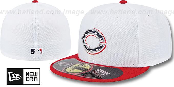 486faa114a88b3 Cincinnati Reds 2013 JULY 4TH STARS N STRIPES Hat by New Era