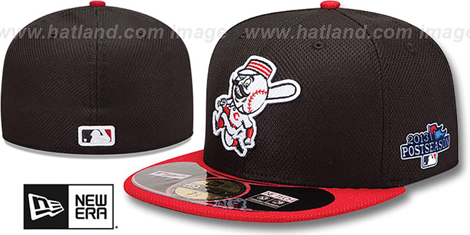 Reds '2013 POSTSEASON' DIAMOND-TECH Hat by New Era : pictured without stickers that these products are shipped with