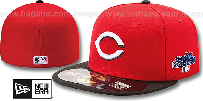 Reds '2013 POSTSEASON' ROAD Hat by New Era : pictured without stickers that these products are shipped with