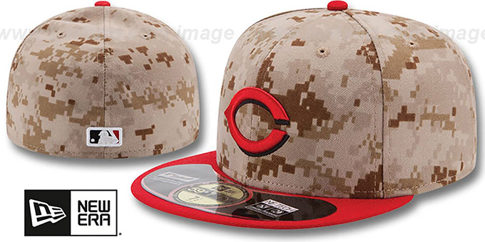 Reds '2014 STARS N STRIPES' Fitted Hat by New Era : pictured without stickers that these products are shipped with