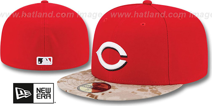 Reds '2015 STARS N STRIPES' Fitted Hat by New Era : pictured without stickers that these products are shipped with