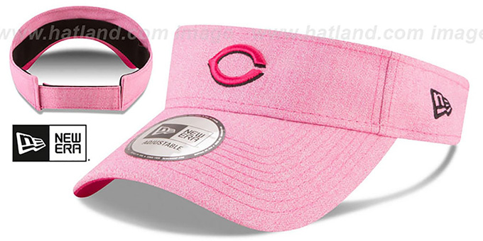 Reds '2018 MOTHERS DAY VISOR' Heather Pink by New Era