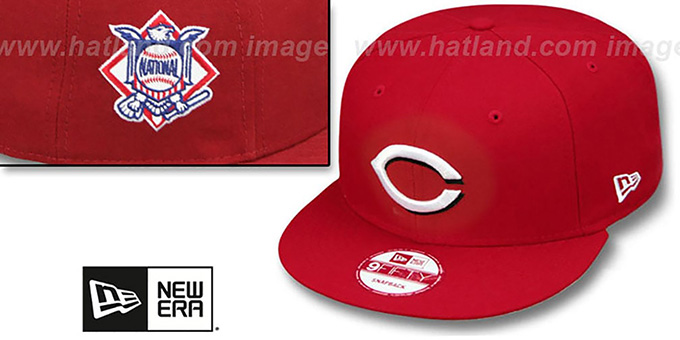 Reds 'LEAGUE REPLICA HOME SNAPBACK' Hat by New Era : pictured without stickers that these products are shipped with