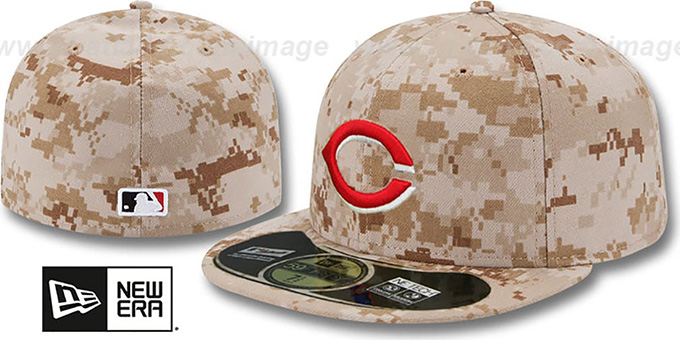 Reds 'PERFORMANCE ALTERNATE - 2' Hat by New Era : pictured without stickers that these products are shipped with
