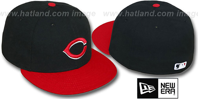 Reds 'PERFORMANCE ALTERNATE' Hat by New Era : pictured without stickers that these products are shipped with