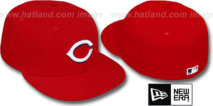 Reds 'PERFORMANCE HOME' Hat by New Era : pictured without stickers that these products are shipped with
