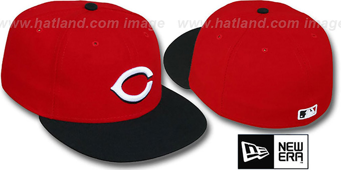 Reds 'PERFORMANCE ROAD' Hat by New Era : pictured without stickers that these products are shipped with