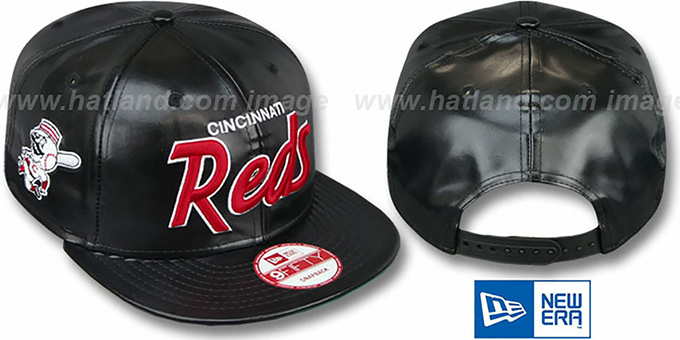 Reds 'REDUX SNAPBACK' Black Hat by New Era : pictured without stickers that these products are shipped with