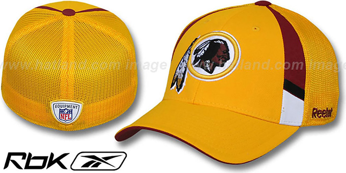 Redskins '2009 DRAFT-DAY FLEX' Gold Hat by Reebok : pictured without stickers that these products are shipped with