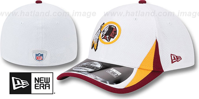 Redskins '2013 NFL TRAINING FLEX' White Hat by New Era : pictured without stickers that these products are shipped with