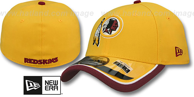 Redskins '2014 NFL STADIUM FLEX' Gold Hat by New Era : pictured without stickers that these products are shipped with