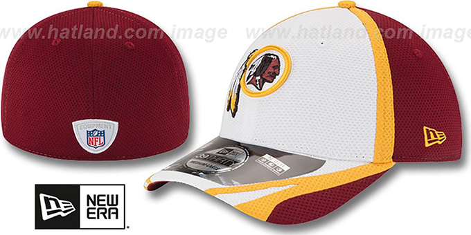Redskins '2014 NFL TRAINING FLEX' White Hat by New Era : pictured without stickers that these products are shipped with