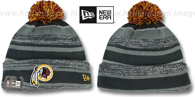 Redskins '2014 STADIUM' Grey-Grey Knit Beanie Hat by New Era : pictured without stickers that these products are shipped with