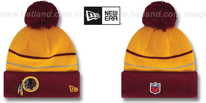 Redskins 'THANKSGIVING DAY' Knit Beanie Hat by New Era : pictured without stickers that these products are shipped with